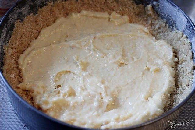 appelkruimeltaart met banketbakkersroom