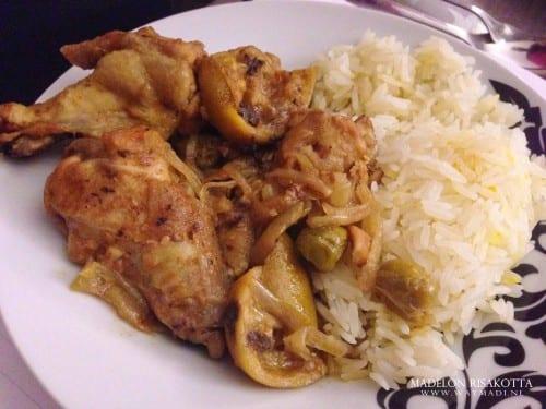 spicy lime chicken met saffraanrijst
