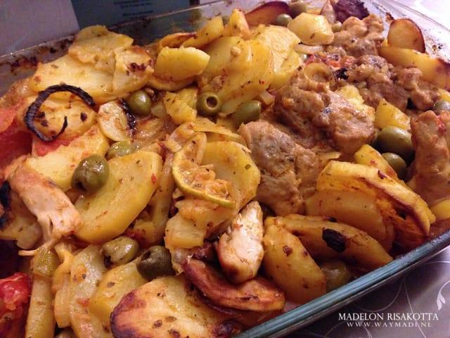 aardappel ovenschotel met kippendij