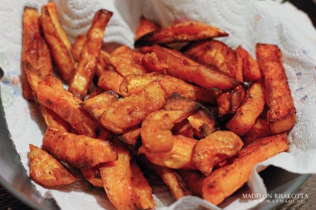zoete aardappel patat