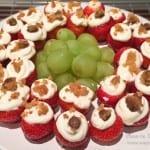 aardbeien met cheesecake topping