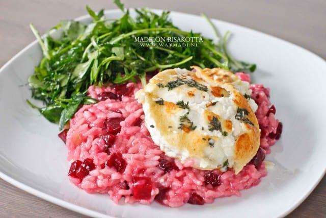 Halalbox Rode bieten risotto met geitenkaas en kruiden salade-2