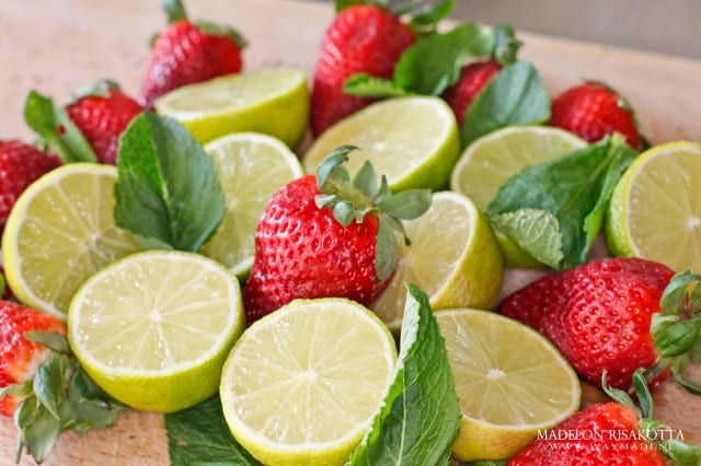 #waymadifood limoen munt aardbei limonade
