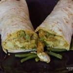 Roti met kip en kouseband