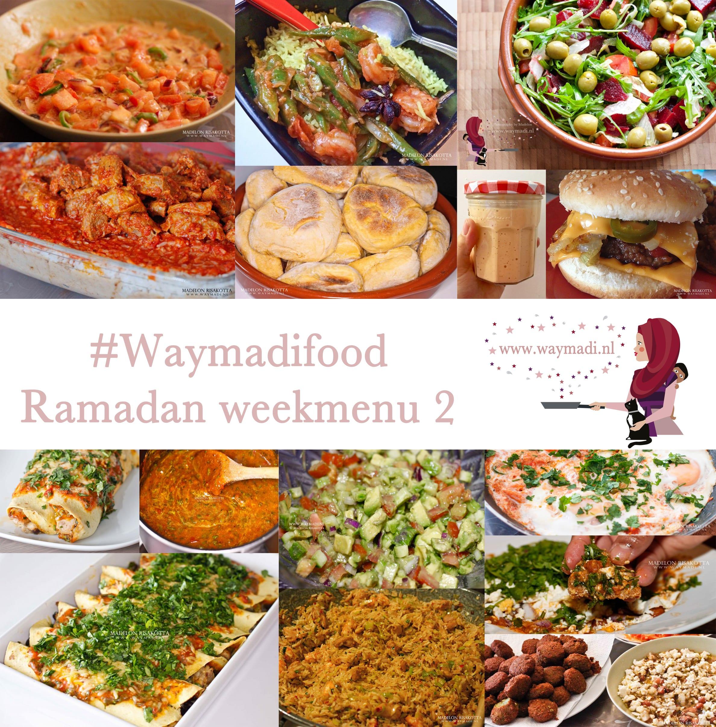 Ramadan weekmenu 2