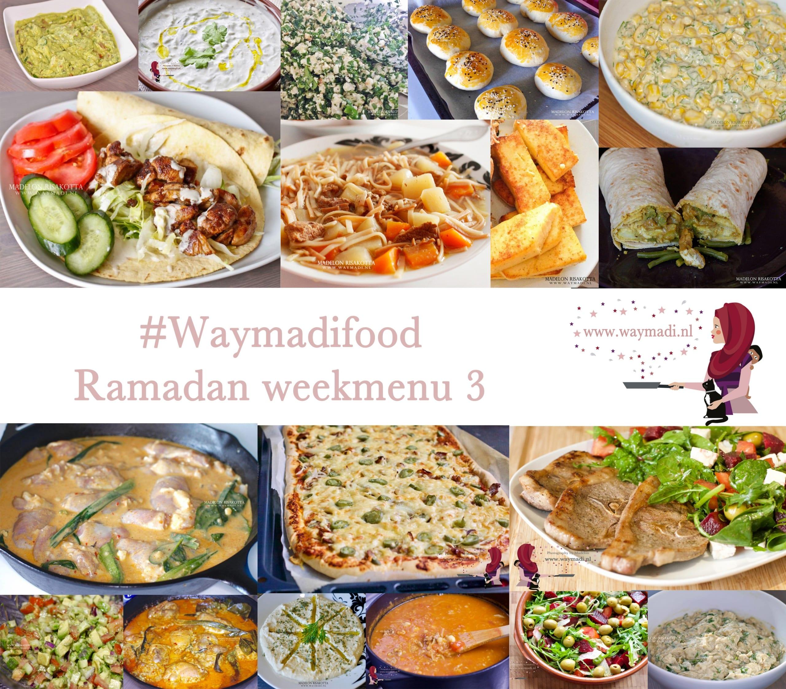 Ramadan weekmenu 3
