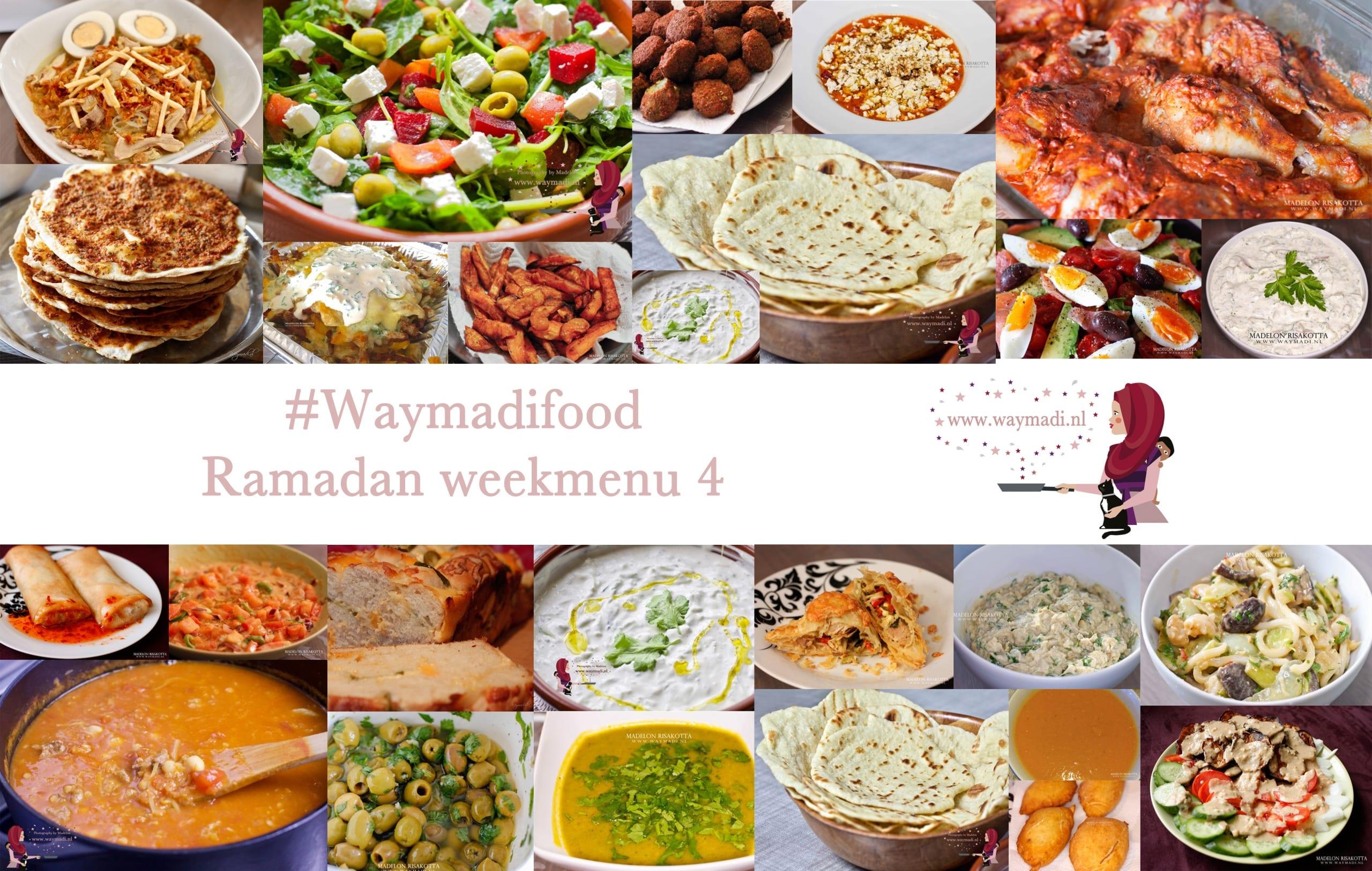 Ramadan weekmenu 4