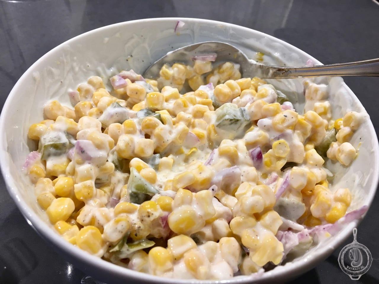 Maissalade met dille en augurk