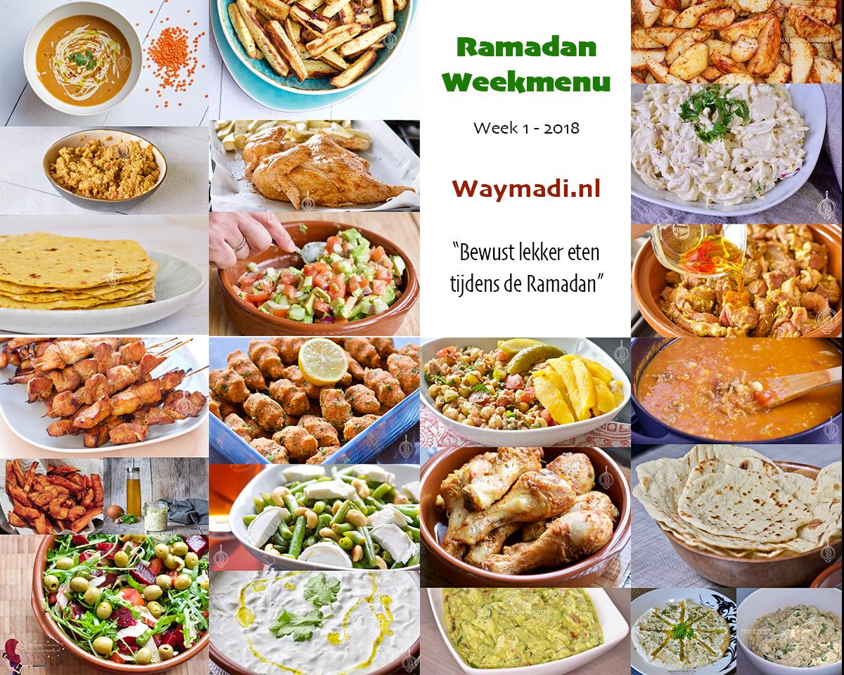 Ramadan Weekmenu | Week 1 – 2018