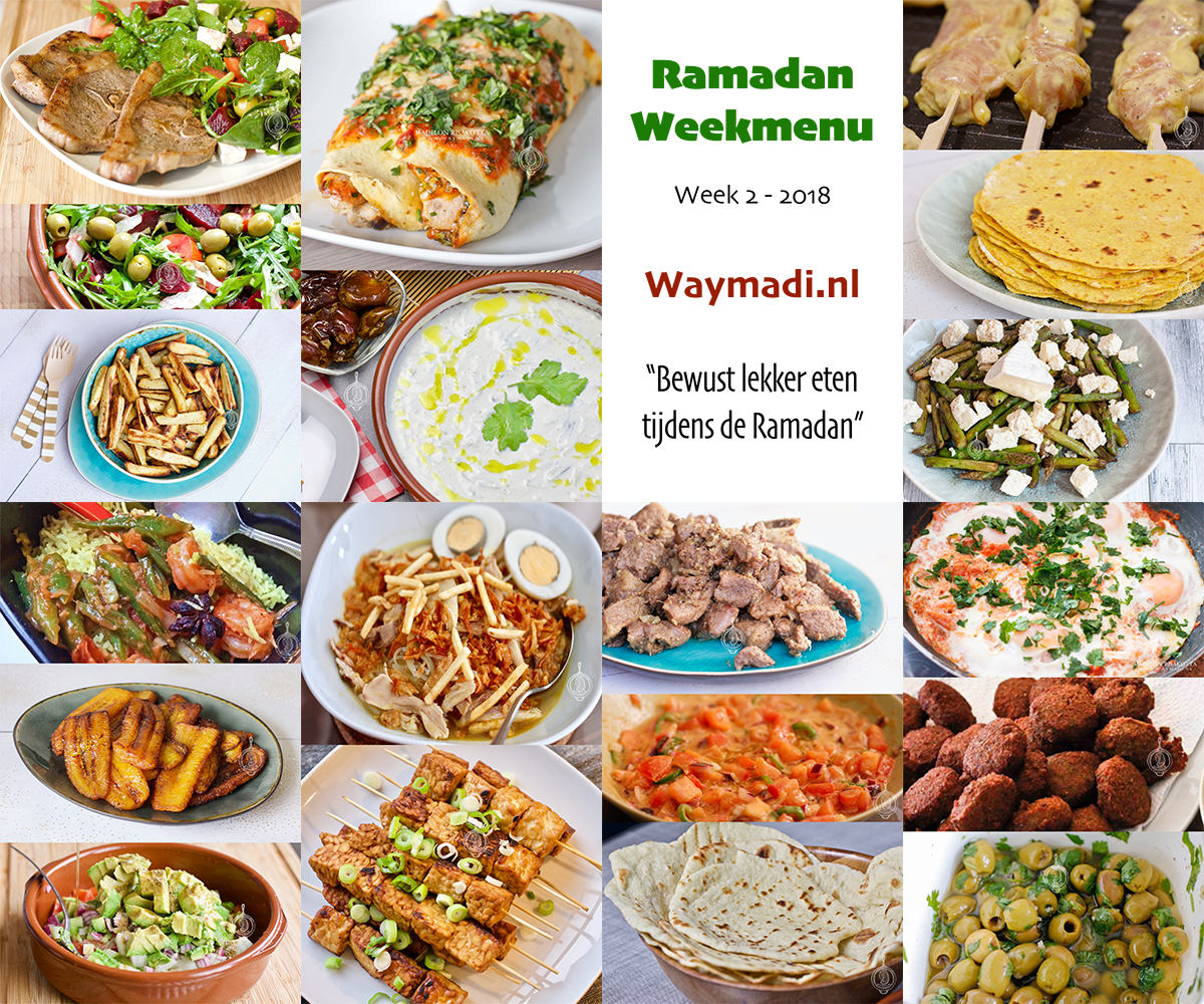 Ramadan weekmenu | Week 2 – 2018