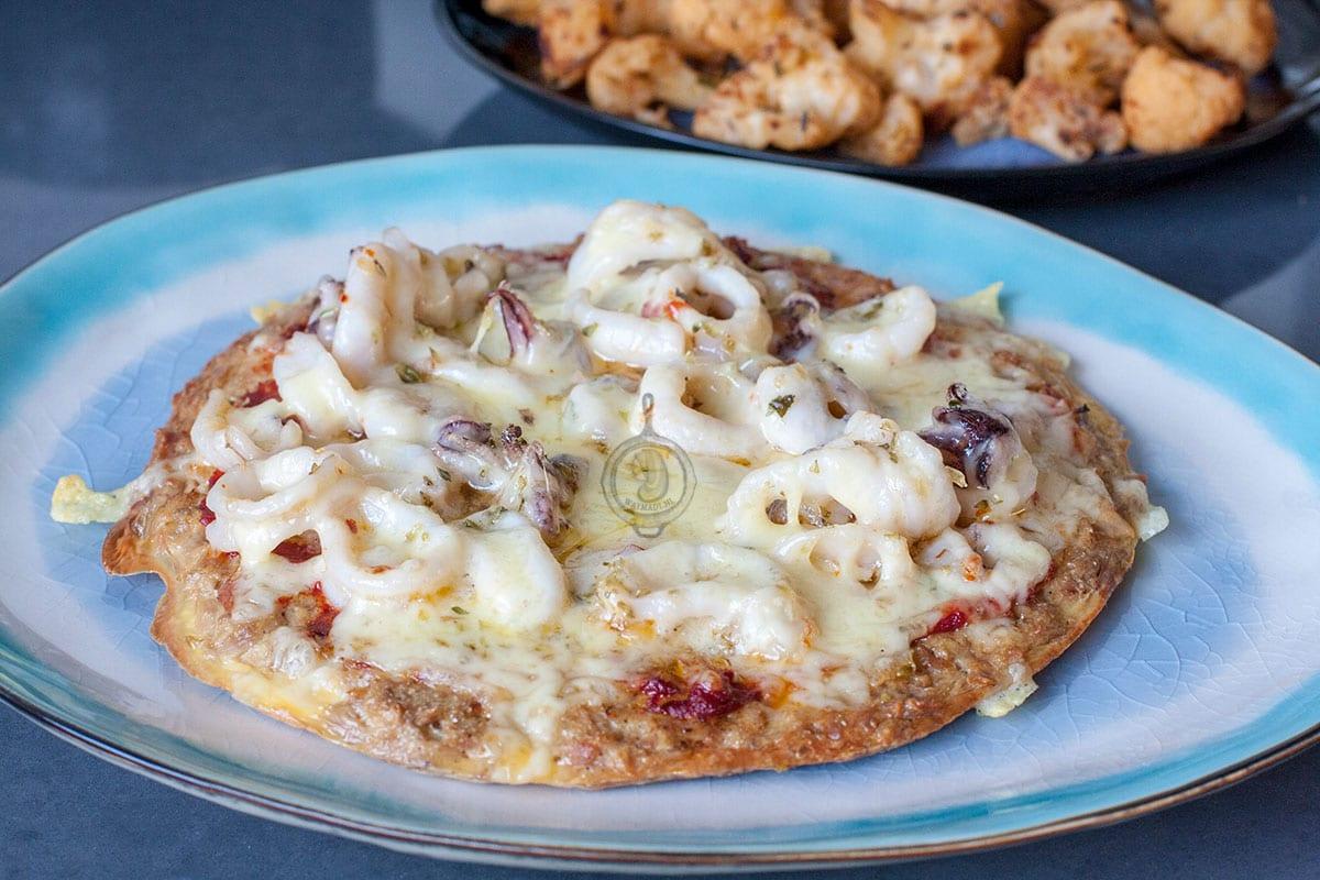Pizza met tonijnbodem