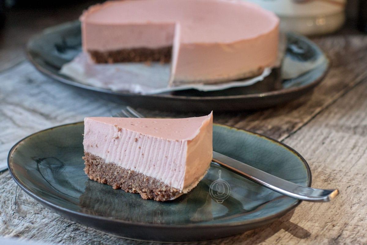 Koolhydraatarme Cheesecake met Aardbeien